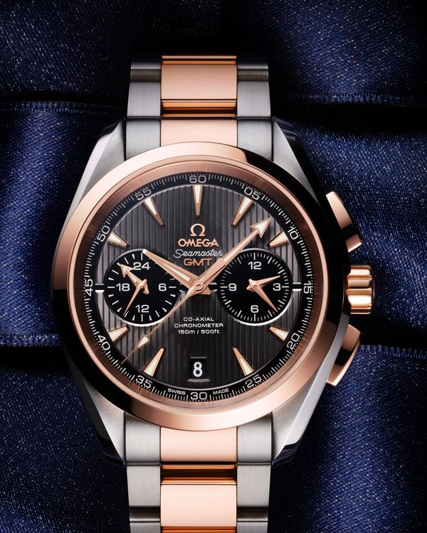 OMEGA Watches: Seamaster Aqua Terra 150 M Omega Co-Axial GMT Chronograph 43 mm - Steel - red gold on Steel - red gold - 231.20.43.52.06.001