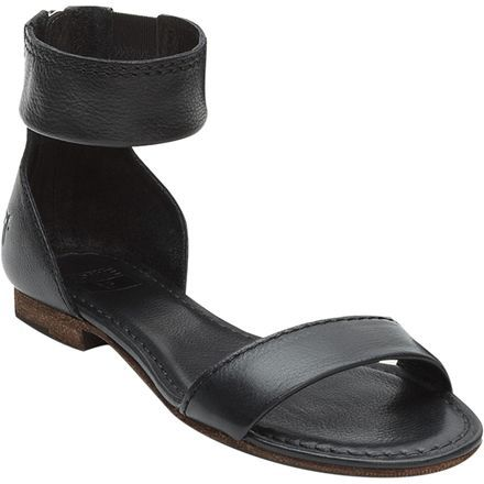 Half festival chic and half summertime dressy, the Frye Carson Women's Ankle Zip Sandal features strappy full leather construction with a back zipper for some subtle detailing and a secure fit.