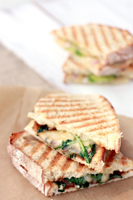 winter panini bar: pears, avocados, prosciutto, sage, fig jam, arugula ...