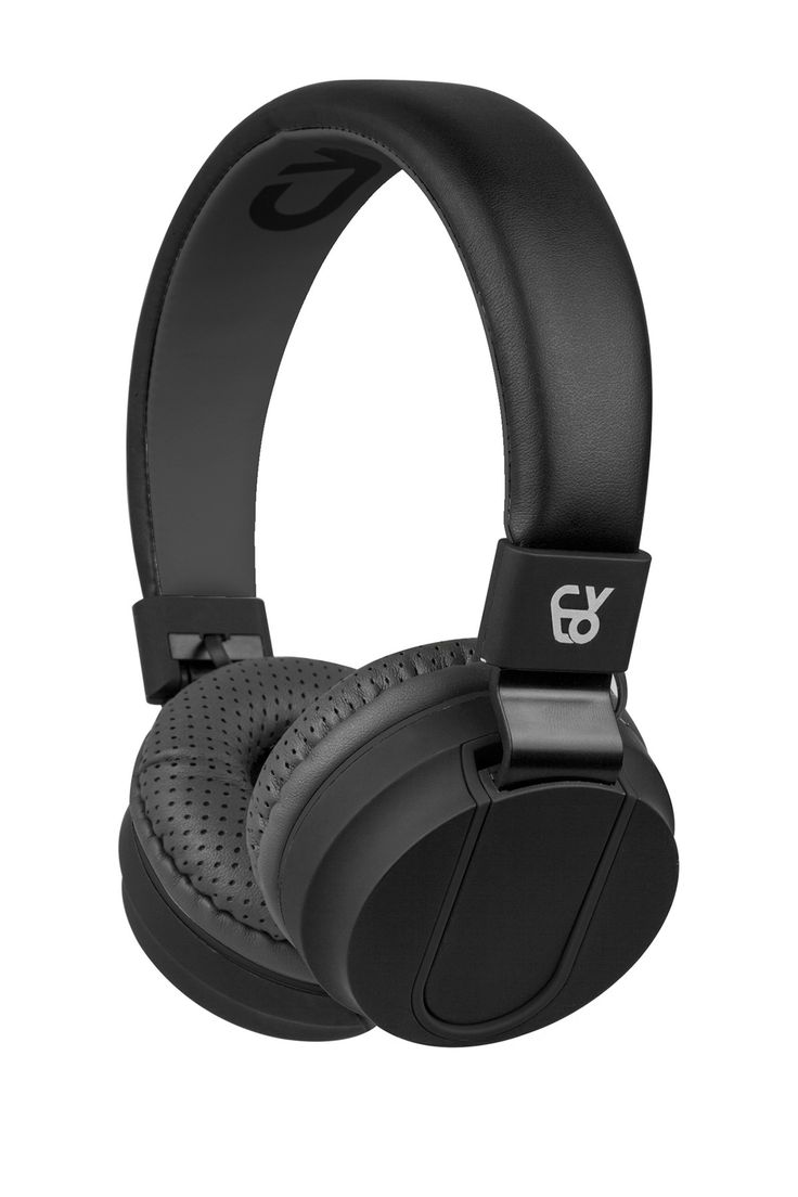 Black Rubberized Sports Headphones