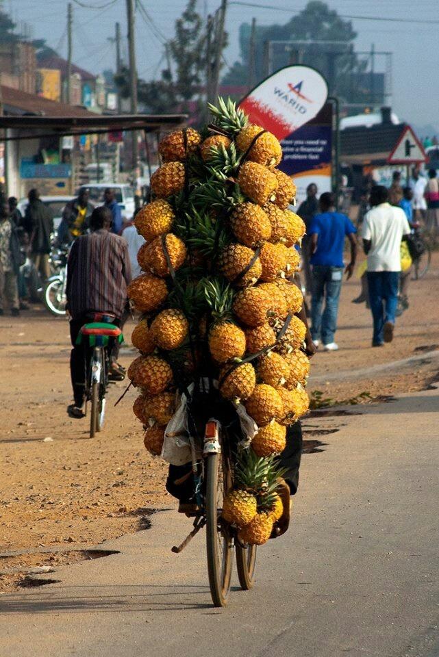 Pineapple vendor, Uganda