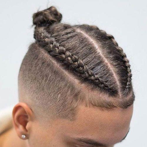 31 Best Man Bun Braids Hairstyles 2020 Guide Mens Braids Hairstyles Braided Hairstyles Easy Braids For Short Hair