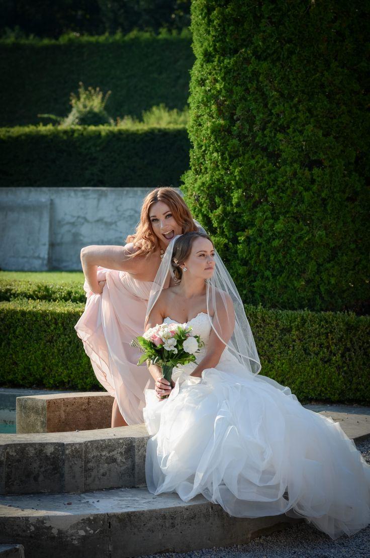 Silly pose with bride and bridesmaid   Parkwood Estate, Oshawa   Toronto Wedding Photographer Pedram Navid
