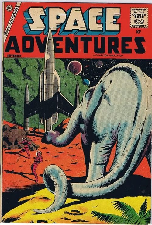 Fantasy Adventure Book Cover ~ Space adventures comic book outta this world