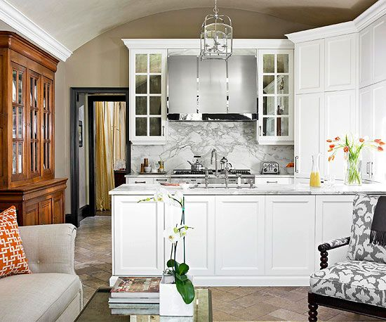 Beyond basic white kitchen small kitchens cabinets and for Basic kitchen cupboards