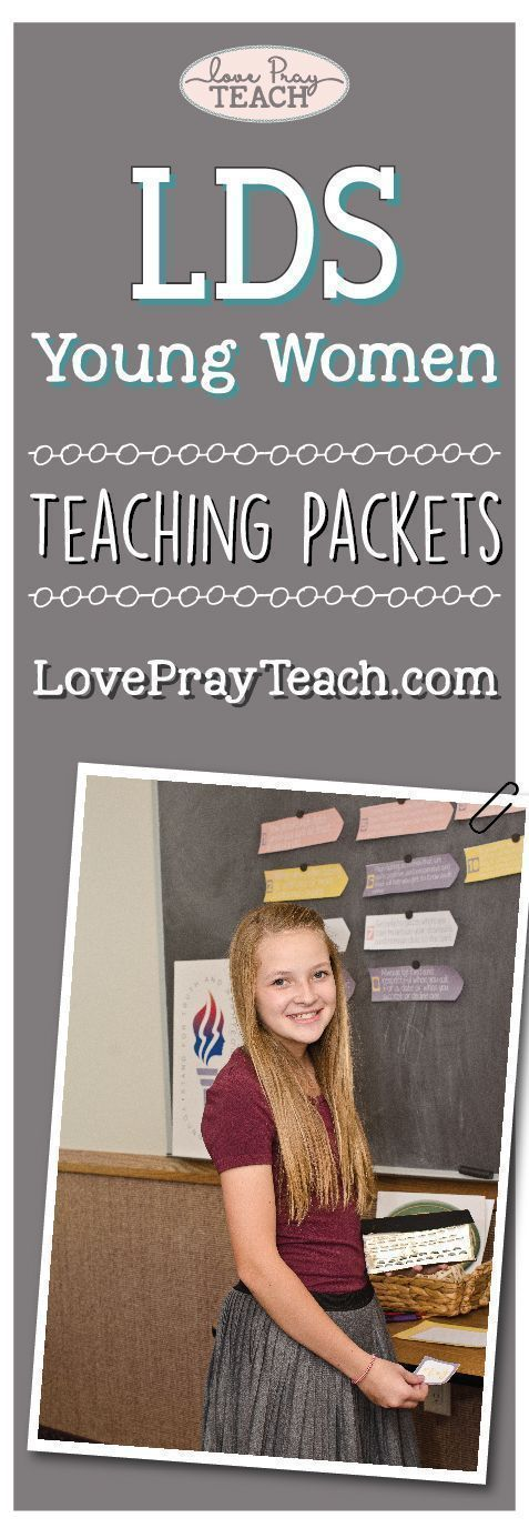 LDS Young Women Teaching Packets for every Come, Follow Me lesson! Lesson Helps include PDF downloads for handouts, posters, journal cards, scripture cards, board strips, worksheets, object lesson ideas, activity ideas, teaching ideas and more! On our NEW website: www.LovePrayTeach.com