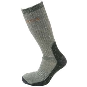 Härkila expedition ullsokk. Tykk og god ullfrotte. Påkostet sokk med støtabsorberende såle og forsterket hæl. Varm og god opp på leggen.