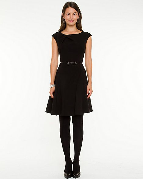 Double Weave Fit & Flare Dress - A timeless fit and flare silhouette will guarantee a feminine allure.