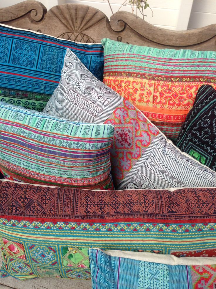 Vietnam Days cushions - AAI made with love #ethnic #vintage #tribal #boho #thailand #vietnam #india #ibiza