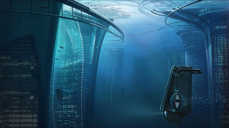 Sci-Fi: Underwater on Pinterest | Underwater City, Underwater and ...