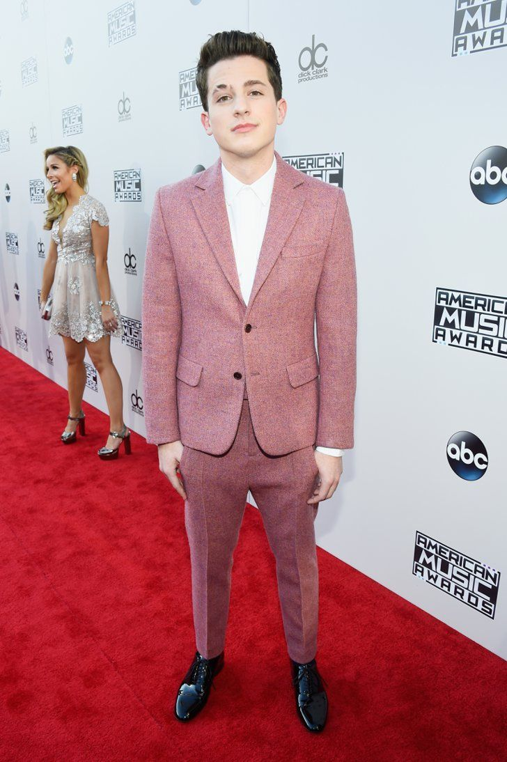 Pin for Later: See All the Stars on the AMAs Red Carpet!  Pictured: Charlie Puth