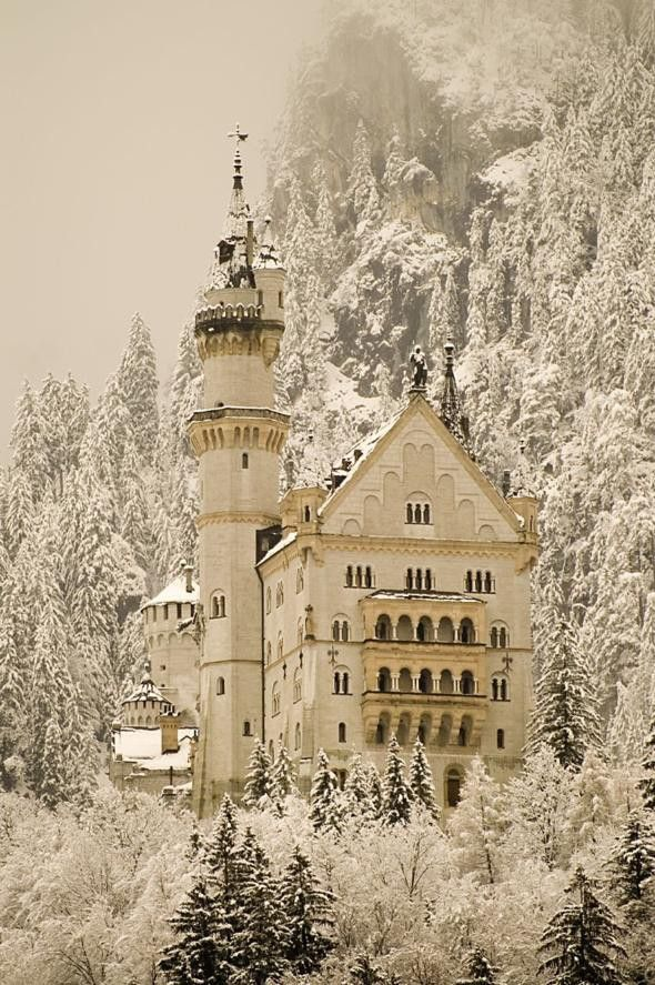 Neuschwanstein Castle by Christian Jank & Eduard Riedel in Bavaria, Germany