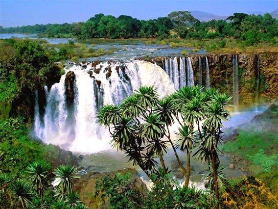 Mavi Nil Şelalesi    Küzey Etiyopya'daki bu şelaleler ülkenin en çok turist çeken yerleri arasındadır. Bir kısmı baraja dönüştürülmüş olsa da görülmeye değerdir