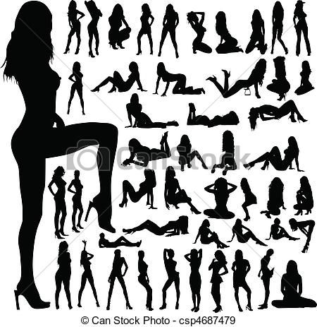 Hot Girl Clip Art | ... clip art icon, stock clipart icons, logo, line art, EPS picture