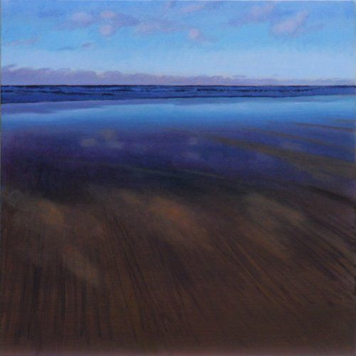 beach_reflections_mawgan_porth 100 x 100 cms Acrylic on canvas Tom Henderson Smith