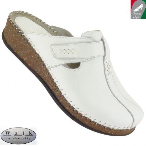 Walk in the city bőr női klumpa 1124 1694 fehér - Női szandálok, papucsok - Tavaszi-nyári női cipők - Rieker cipő webáruház, Marco Tozzi webáruház, Jana cipő webáruház, Tamaris, Ara - Dumtsa Cipő