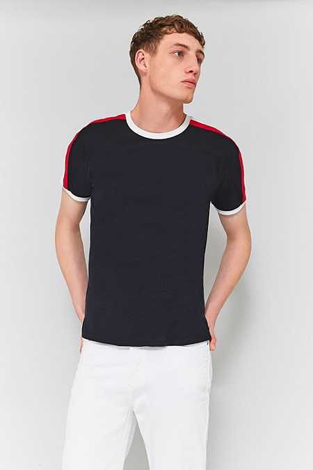 UO Black and Red Contrast Football T-shirt