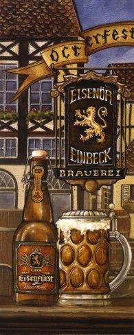 German Beer Poster by Charlene Audrey at AllPosters.com