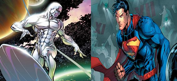 Silver Surfer vs Superman fight