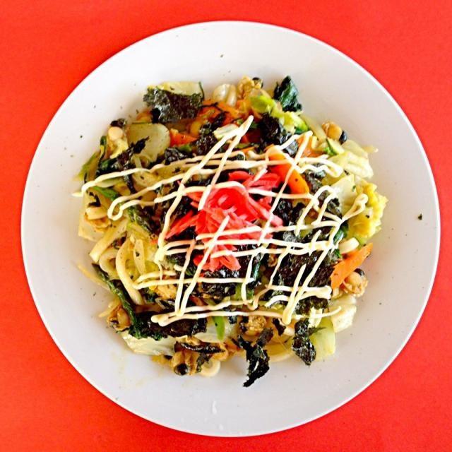 こんにちは(*^_^*) はみちゃんのジョイフルキッチンランチ(*^_^*) たっぷり野菜の焼うどん(*^_^*) 美味しかった^_^ごちそう様^_^ 幸せありがとう(*^_^*) - 95件のもぐもぐ - はみちゃんのジョイフルキッチンランチ(*^_^*)たっぷり野菜の焼うどん(*^_^*) by joyful1193