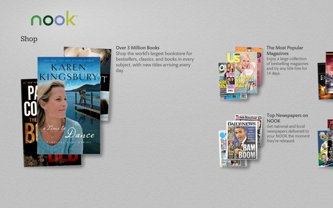 Windows Store Gets A Nook App From Barnes & Noble For Windows 8 & Windows RT - Barnes & Noble has released a Nook app for Windows 8 and Windows RT users. The app is probably an outcome of a recent joint venture between B & N and Microsoft. [Click on Image Or Source on Top to See Full News]