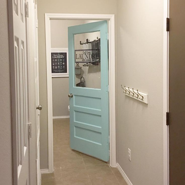 Laundry room door.