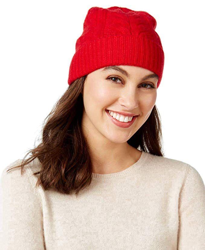 f562353e5fbea Charter Club Cable Cashmere Cuff Hat Review