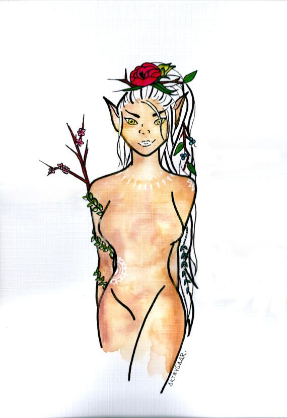 FOREST FAIRY forest nymph gift for freespirit girl adult