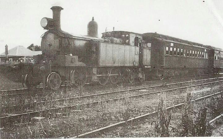 Train awaits at Castle Hill Station in 1930 (North Western suburb of Sydney).Sadly the station is now defunct.A♥W