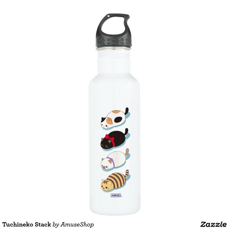 Tuchineko Stack Stainless Steel Water Bottle cat #bottle #botella