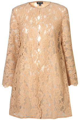 Nude Lace Coat Cute over a dress or skirt and top- just don't overdo it- stay simple underneath!! Trendy for SS12.  $136
