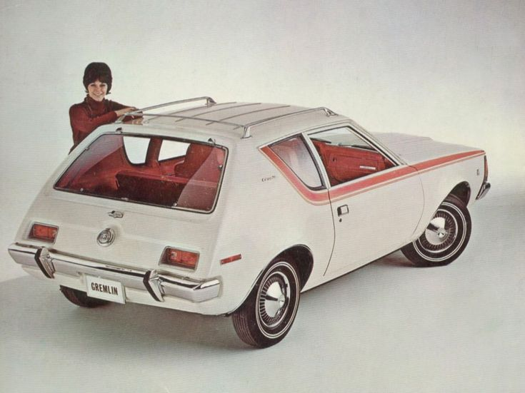 1970 Gremlin, from a February 12, 1970 AMC press release. I was in a horrible car accident in one of these in 1975.
