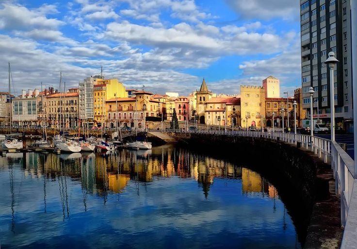 The harbour at Gijon Spain