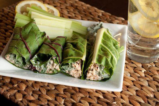 Thunfisch-Mangold-Wraps: Lernen Sie, Mangold zu lieben, anstatt Ihrer normalen Salat-Wraps! Th …   – Workout