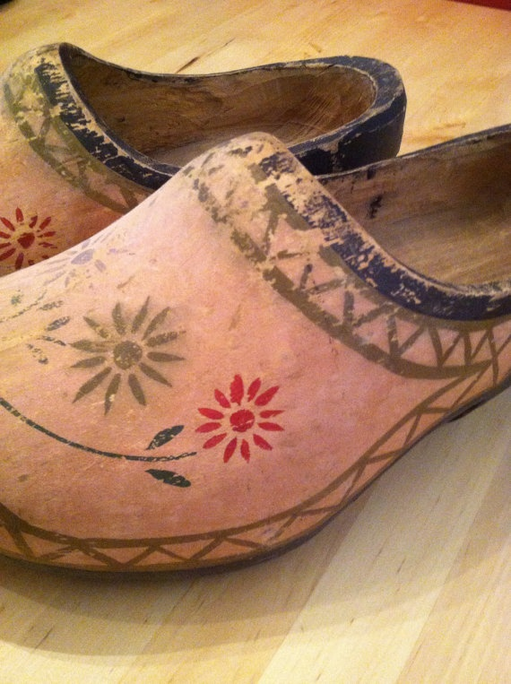 Wooden Shoes Clogs Amsterdam Milk Maid Dancing by VintagebyJen, $24.00
