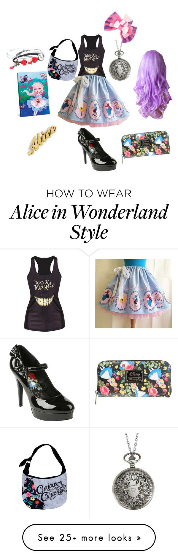 """Alice in wonderland"" by bunnybree on Polyvore featuring Disney, Hot Topic and iCanvas"