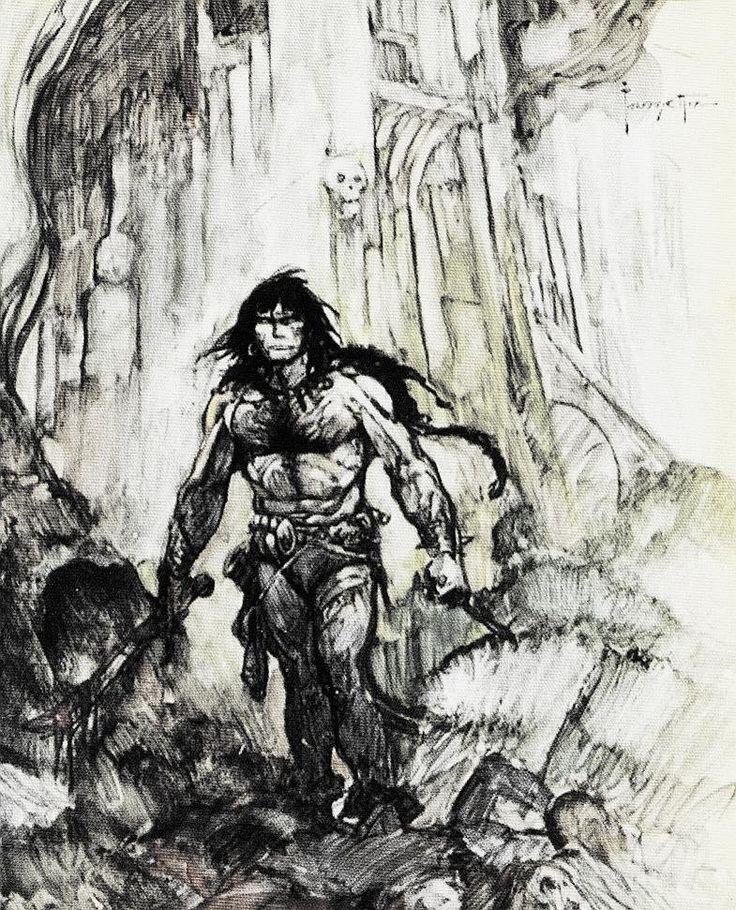 Frank Frazetta sketch of Conan | Sword & Sorcery in 2019 ...