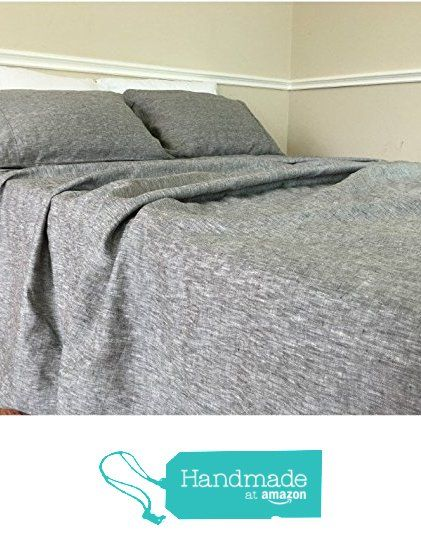 Chambray Grey Bed Sheets, Chambray Bedding, Grey Bedding, Top Sheet, Fitted Sheet, Bed Sheets Set, Queen Bed Sheets, King Bed Sheets, California King Bedding, Twin Bed Sheets from SuperiorCustomLinens