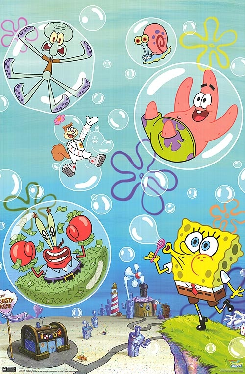 SpongeBob lives in Bikini Bottom with his friends: Squidward Tentacles, Gary the snail , Patrick Star, Sandy the Squirrel, and Mr. Krabs ...