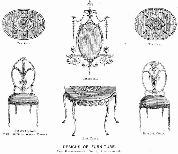 Regency furniture illustration
