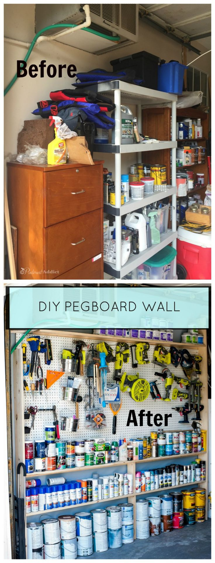 Garage Makeover - Good Housekeeping Spring Cleaning Challenge - Pinterest Addict