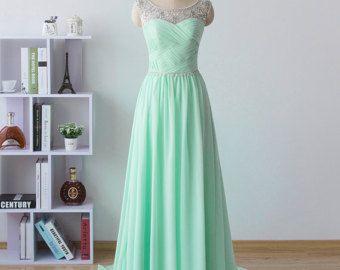 Simple bridesmaid dress short prom dress mint by CharmAngell