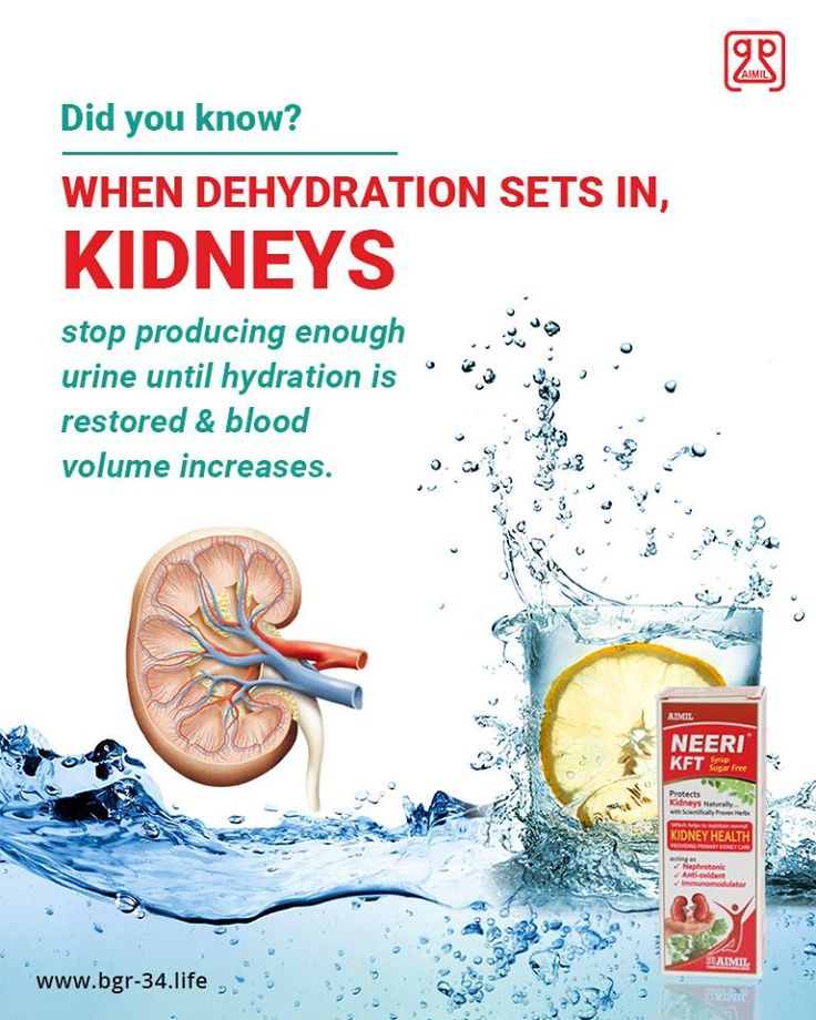 #DidYouKnow When #Dehydration Sets in, Kidneys stop producing enough urine #hydration is restored and #blood volume increases.