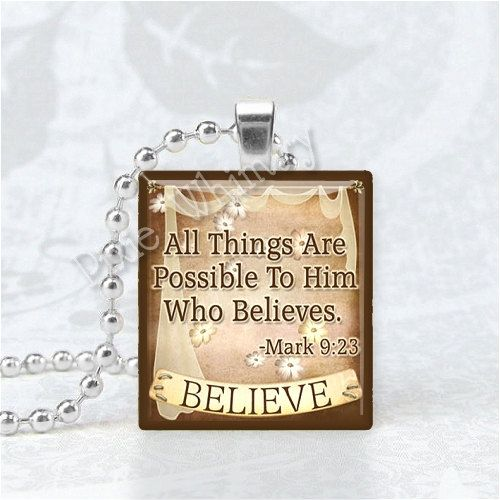 CHRISTIAN Pendant Christian Jewelry Bible Scripture by PixieWhimsy