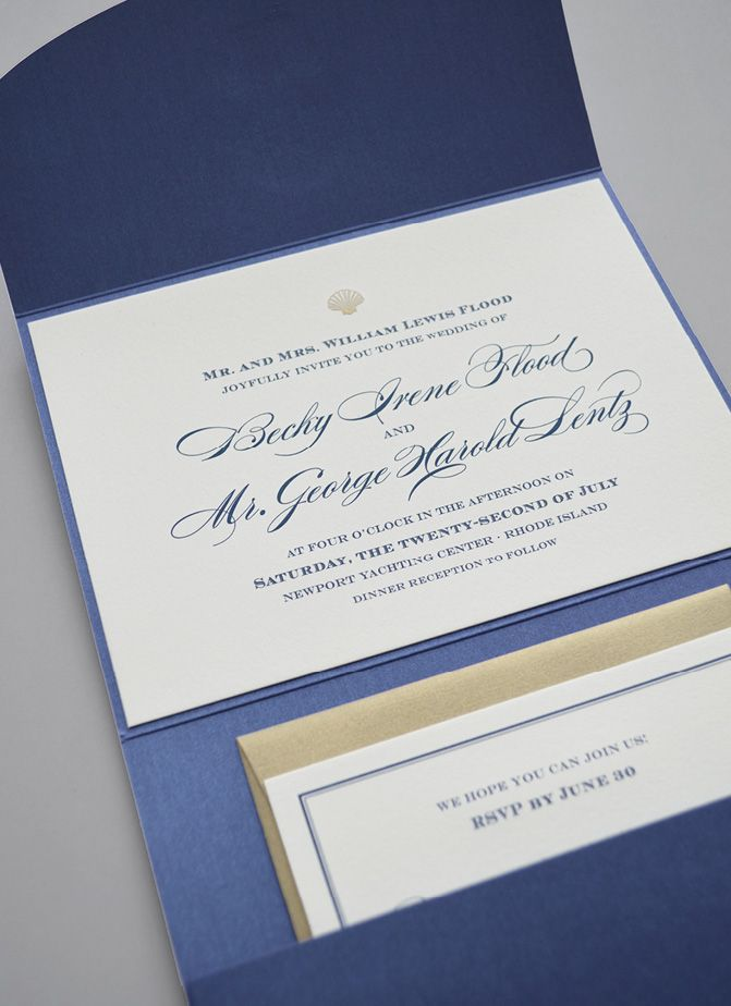 Kleinfeld Paper Maritime Wedding Invitation with