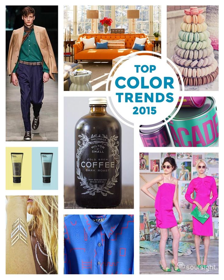 Top Color Trends for 2015! Great inspiration across all design practices! #colortrends #colorforecast #design #packaging #trends