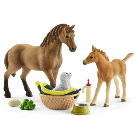 Schleich 42432 Quarter Horse Mare and Foal Care Set New Release 2018