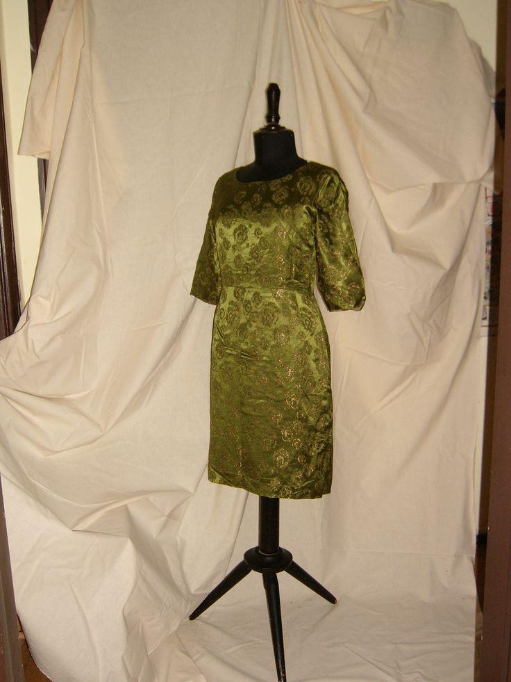 COCKTAIL DRESS Brocade in Metallic Gold 1950 /  ABITO DA COCKTAIL Broccato in lamè dorato - 1950