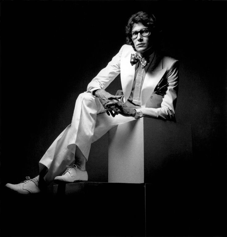 1972 - Yves Saint Laurent, photographed by Jeanloup Sieff for Yves Saint Laurent pour Homme,
