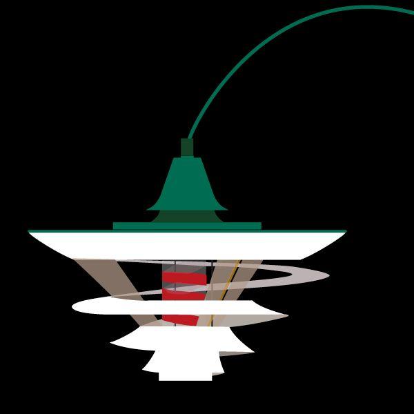 Tivoli lamp - designed by Poul Henningsen 1949.#Sivellink